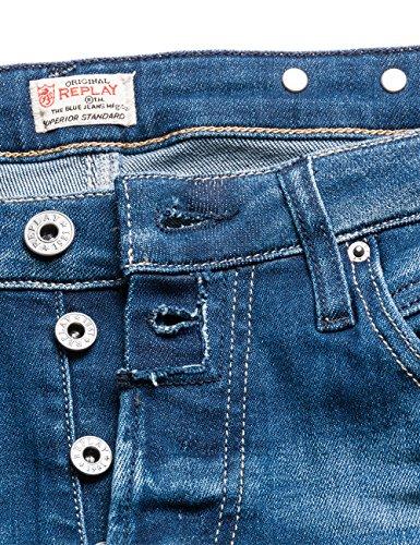 Boyfriend Mujer para Zip Ankle REPLAY Jeans 9 Azul Denim Blue Pilar qRfYaA