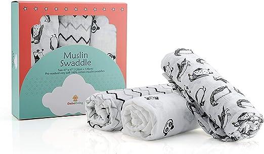 Mantas Swaddle Muslin para tu bebé recién nacido Pack de 3 ...