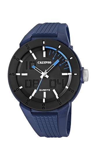 Calypso Watches Reloj Multiesfera para Hombre de Cuarzo con Correa en Plástico K5629_3: Amazon.es: Relojes