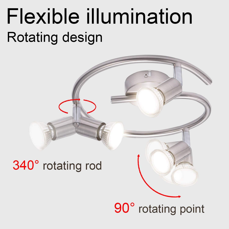 GU10 LED Lampe Kimjo 5W Warmwei/ß 2800K 460LM LED GU10 Leuchtmittel Ersatz f/ür 50W Halogenlampen 82Ra 120 /°Abstrahlwinkel 5er