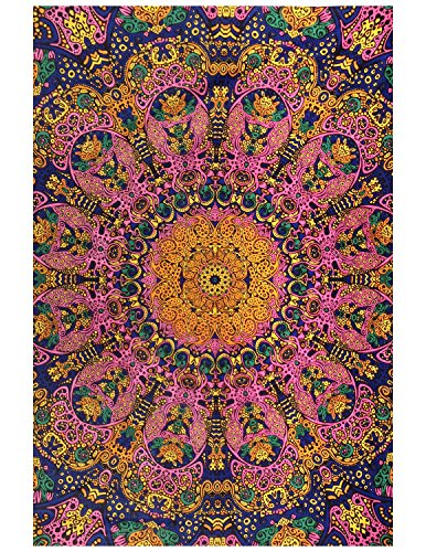Sunshine Joy 3D Psychedelic Sunburst Tapestry Tablecloth Beach Sheet 60x90 Inches - Pink Sunset (Sheet Sunburst Set)