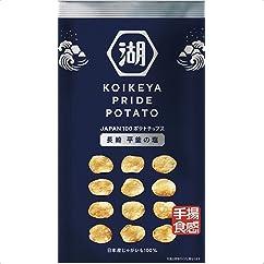 【スナック菓子の新商品】湖池屋 KOIKEYA PRIDE POTATO 手揚食感 長崎平釜の塩 60g×12袋