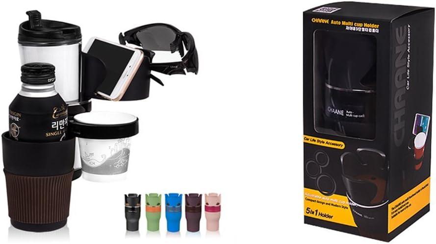 Black 5in1 Multifunction Car SUV Cup Holder Phone//Bottle Storage Organizer Box