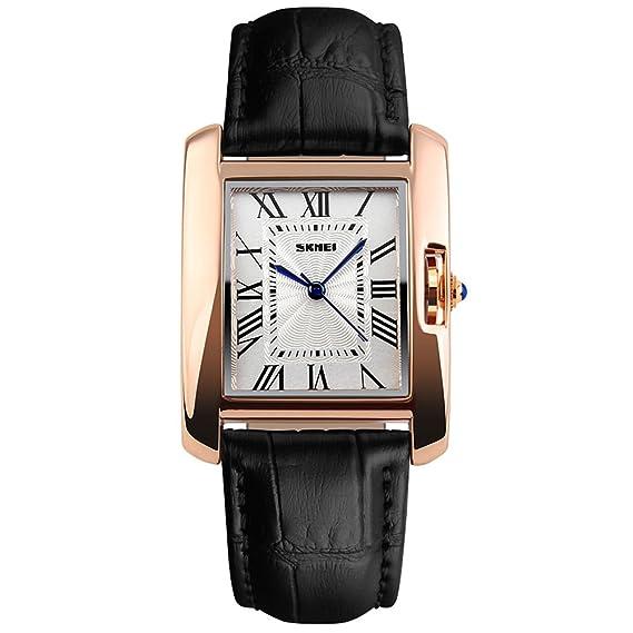 Amazon Com Ladies Analog Quartz Wrist Watch Women Black Leather