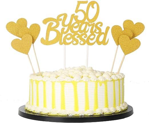 Amazon.com: PALASA - Juego de decoración para tarta de 50 ...