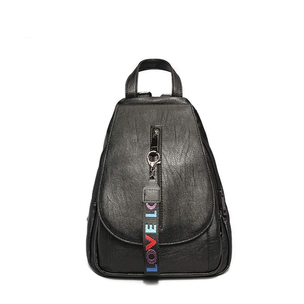 MSF1990 Damen Rucksack Rucksack Rucksack Leder Wasserdichte Handtaschen Schultertasche Lässig College Wind Bag (schwarz 24 × 13 × 30 cm) B07PB3FSHH Damenhandtaschen Große Auswahl 2924d6