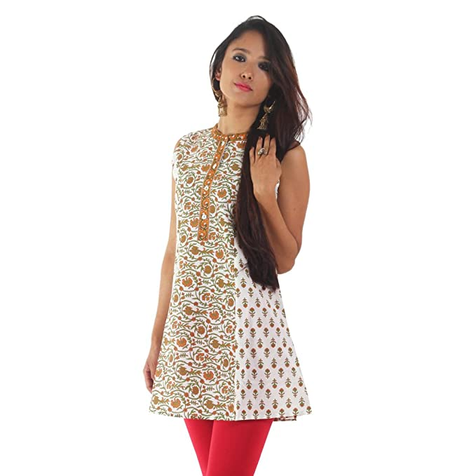 3fa16dbf0c4 Ateesa Womens Cotton Kurti -Yellow -X-Large  Amazon.in  Clothing ...