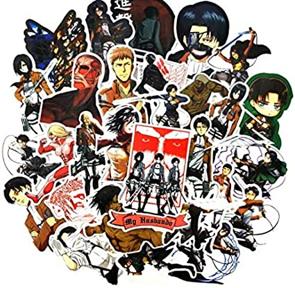 DZCYAN 42 Pcs/Pack Japanese Anime Attack On Titan Stickers For Laptop Motorcycle Skateboards Wardrobe Guitar Armin Arlert Toys Sticker: Amazon.es: Coche y moto