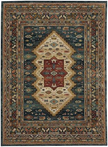 Karastan Spice Market 90937-50130 Mandeb Sapphire Area Rug (5'3'' x 7'10'') by Karastan