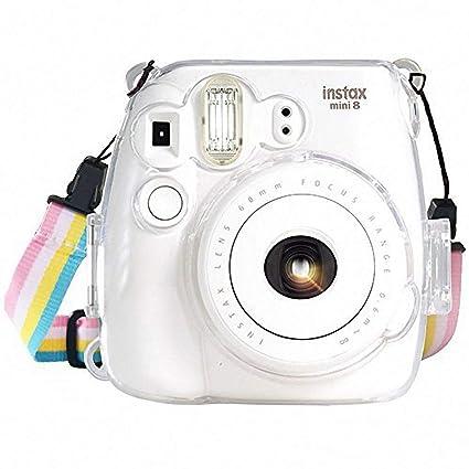 b3be329c0d43b9 Fujifilm Instax Mini 8   Mini 8+   Mini 9 Crystal Case - CAMSIR Crystal Camera  Case With Adjustable Rainbow Shoulder Strap for Fujifilm Instax Mini 8    Mini ...