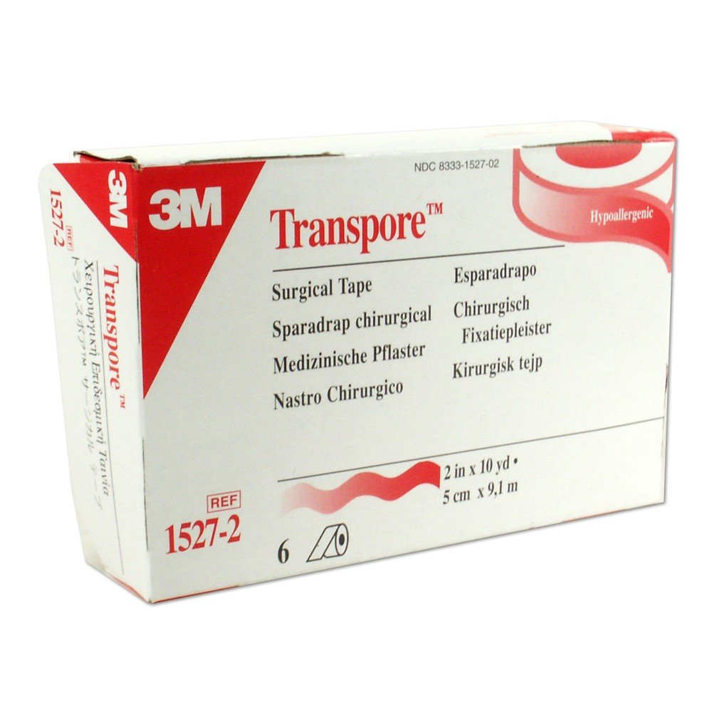 3M Transpore Tape, 2 Inch By 10 Yards, 6-Count