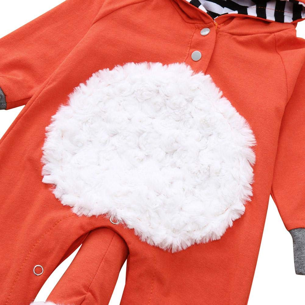 chinatera Newborn Baby Hoodies Rompers Fox Winter Spring Costumes Outfit