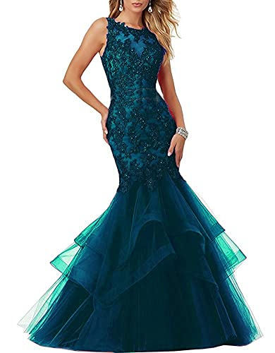 Lisa Pearl Illusion Back Prom Dresses Long Mermaid Evening Party Gown