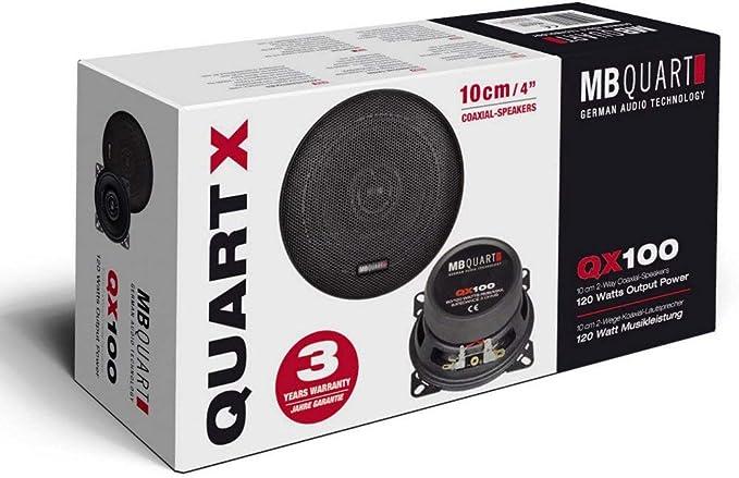 Mb Quart Qx 100 10 Cm 2 Way Coaxial Speakers 3 Ohm 60 Elektronik