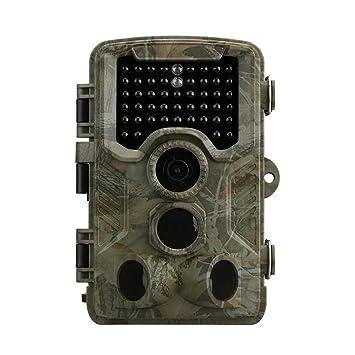 Seasaleshop Cámara de Caza Trail Cámara con Visión Nocturna Impermeable IP56 con PIR Infrarrojo Sensor de