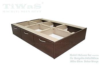 Schubladensockel DeLuxe für Wasserbett Sockel / Unterbau ...