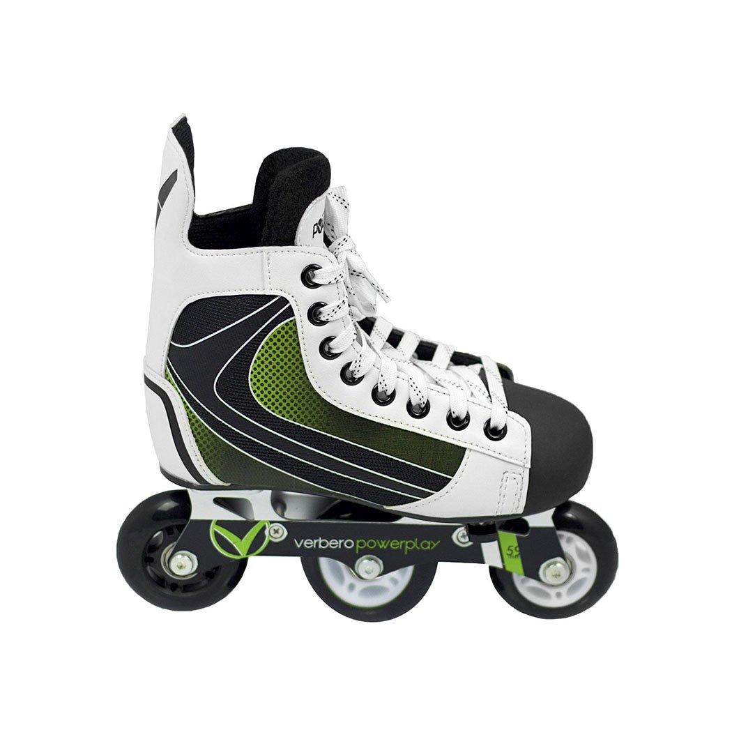 Verbero PowerPlay Adjustable Inline Hockey Skates (Kids Size Y10 - Y13)