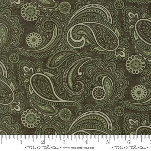 (Moda Once Upon A Memory Quilt Fabric Paisley Style 6731/20 Bough Green)