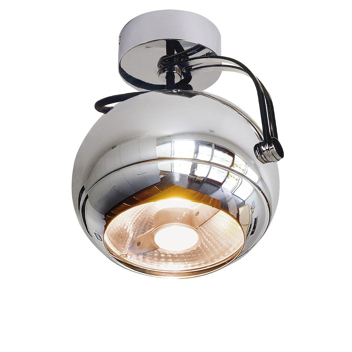 weiss//chrom max GU10 50W SLV LIGHT EYE BALL GU10 Pendelleuchte