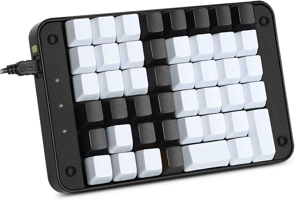 Koolertron Single-Handed Programmable Mechanical Keyboard with Cherry MX Red Switch,All 46 Programmable Keys Tools Keypad,8 Macro Keys,PBT Keycaps.[SMKD72-B]