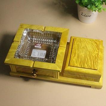 Zhiming Handwerk Aschenbecher Goldener Seide Phoebe Wohnzimmer Möbel  Kunsthandwerk Aus Holz