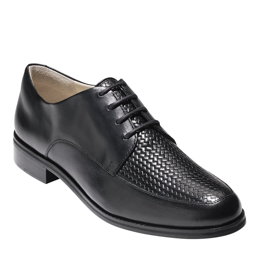 Cole Haan Womens Micaela Grand Weave Oxford 8.5 Black Leather