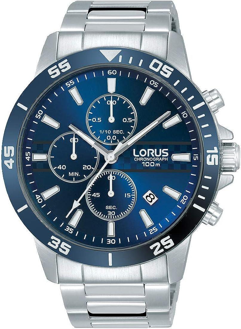 Lorus Reloj Cronógrafo para Hombre de Cuarzo con Correa en Acero Inoxidable RM303FX9