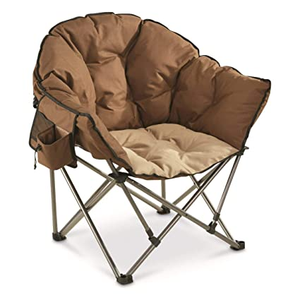 84a3548f700 Amazon.com : Guide Gear Oversized Club Camp Chair, 500-lb. Capacity,  Tan/Brown : Sports & Outdoors