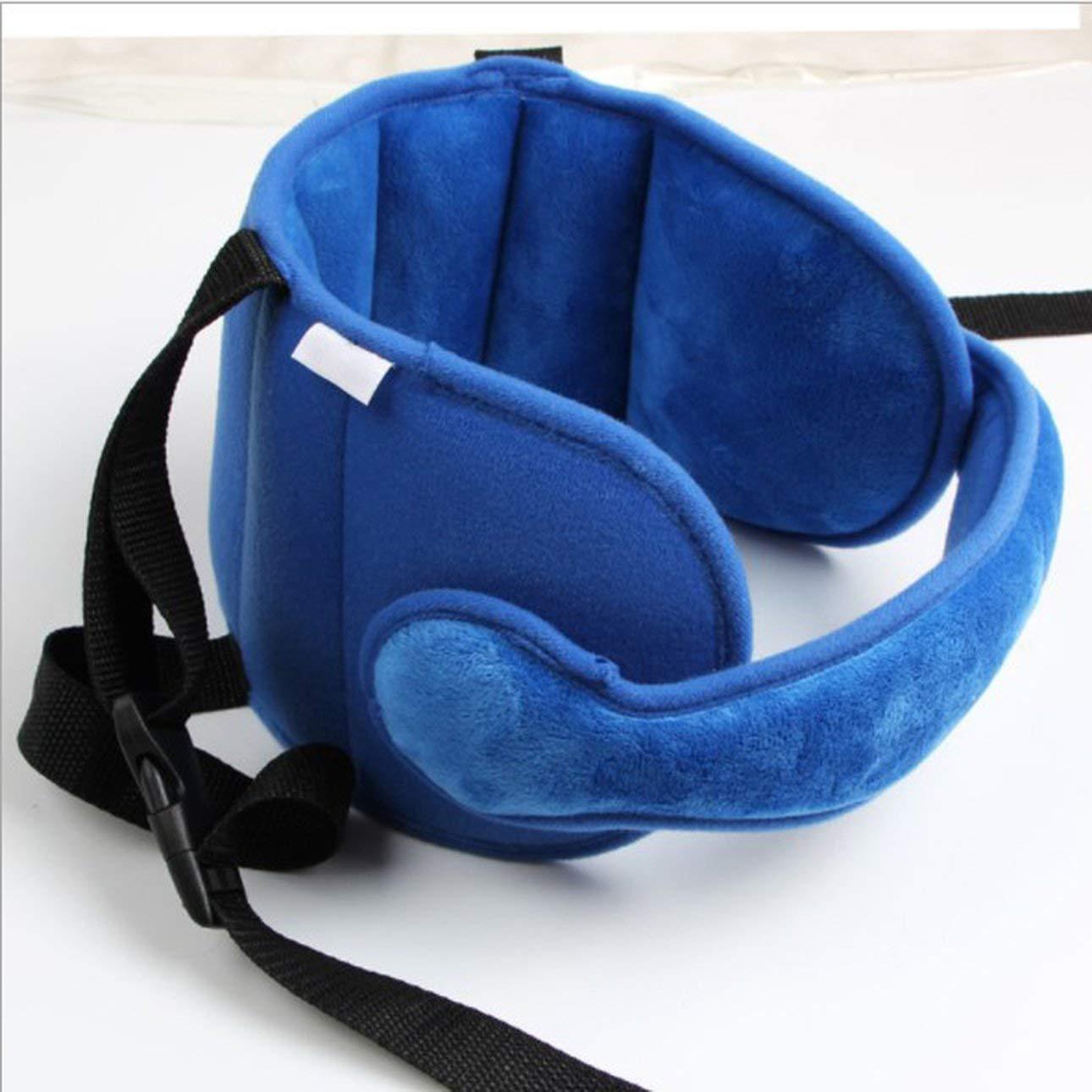 1pc Bady Sleeping Head Support Pad Kids Carrozzina Seggiolino auto Sleep Positioner Passeggino Bambini Head Support Cintura di fissaggio di Ballylelly (blu)