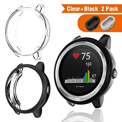 APPHOME Protector Case Compatible with vivoactive 3, Soft TPU Plated Bumper Shell Scratch-Proof Hollow Screen Cover for Garmin vivoactive 3 Smartwatch ...