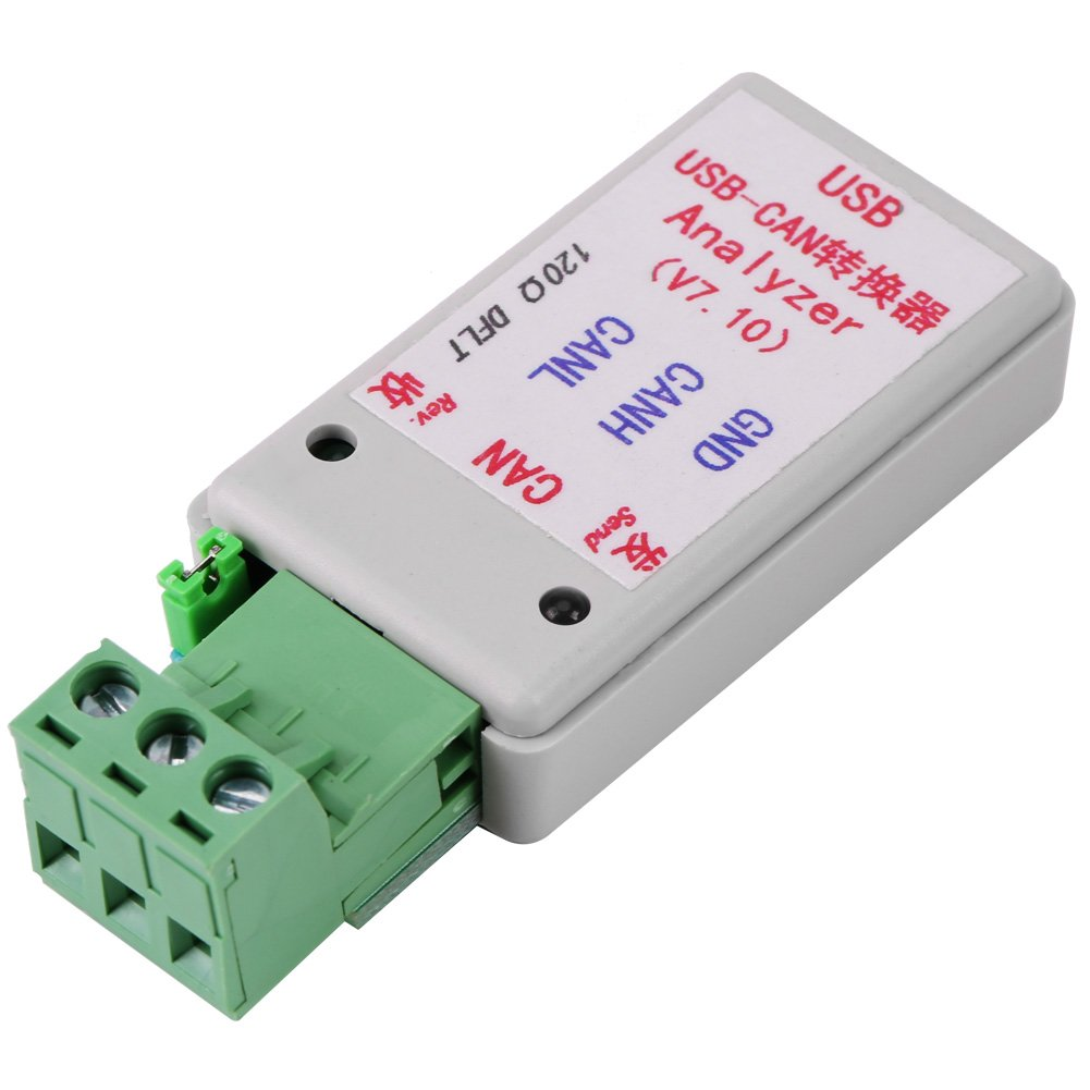 Hub Multi-Port Converter Adapter USB-CAN Bus Converter with USB Cable for CAN2.0A and CAN2.0B