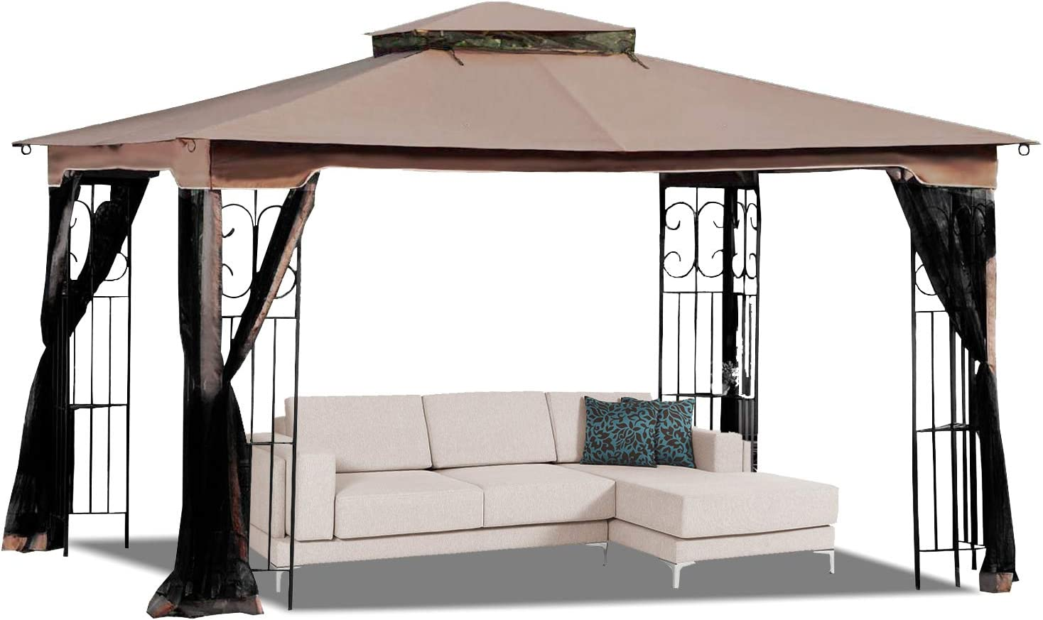 MasterCanopy 10' x 12' Gazebo Replacement Canopy Roof for Model GZ798PST-E(Only Top)
