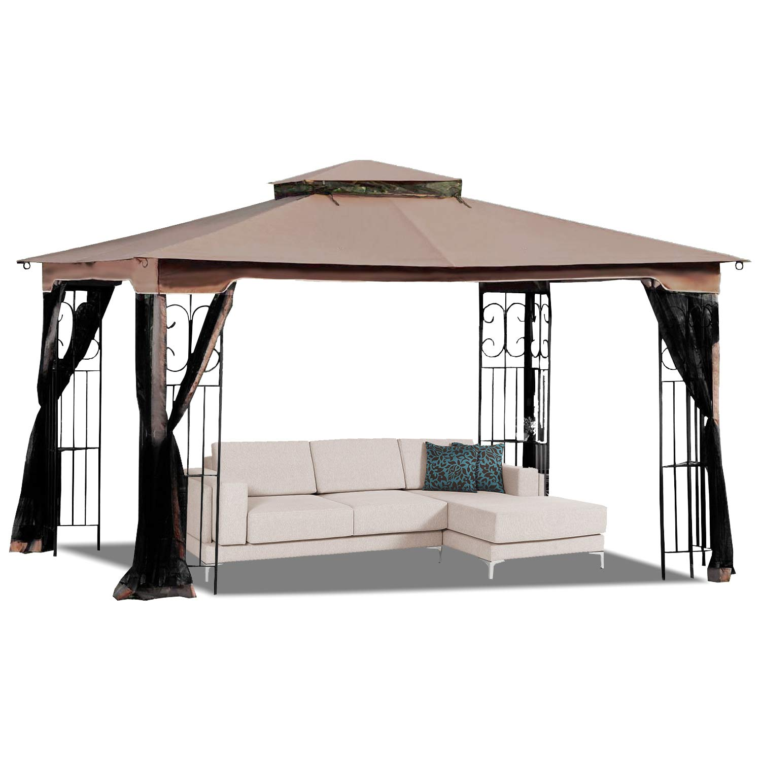 MasterCanopy 10' x 12' Gazebo Replacement Canopy Roof for Model GZ798PST-E(Only Top) by MasterCanopy