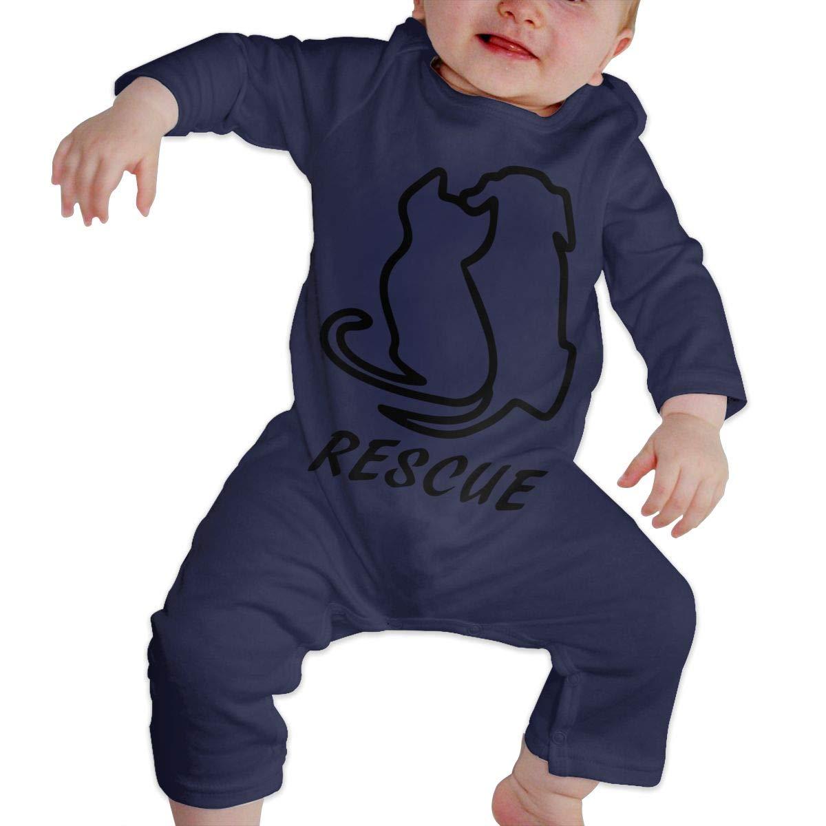 Dog Rescue Newborn Kids Long Sleeve Bodysuit Baby Rompers