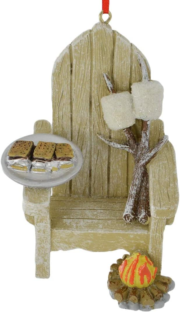 Kurt Adler Adirondack Chair and S'mores Ornament