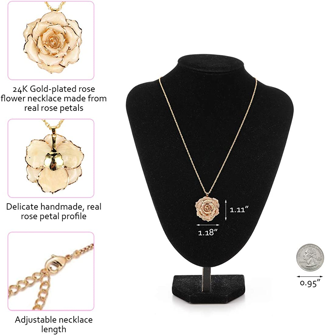 flower pendant Necklace-pendant 3 in 1 Jewelry set with necklace and brooch gift for mom