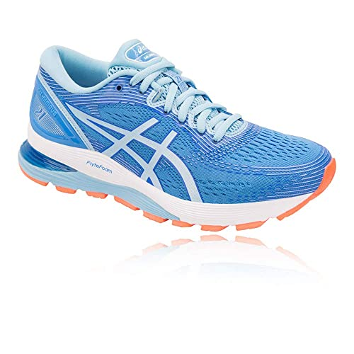 ASICS Gel-Nimbus 21, Chaussures de Running Femme, Bleu (Blue Coast  7ff1f815c675