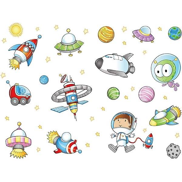 decalmile Pegatinas de Pared Planetas Decoración Infantil de Pared ...