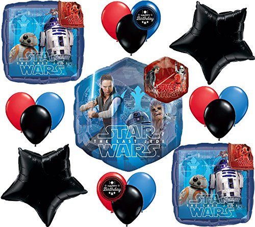Star Wars The Last Jedi Movie Deluxe Party Balloon Bundle ()