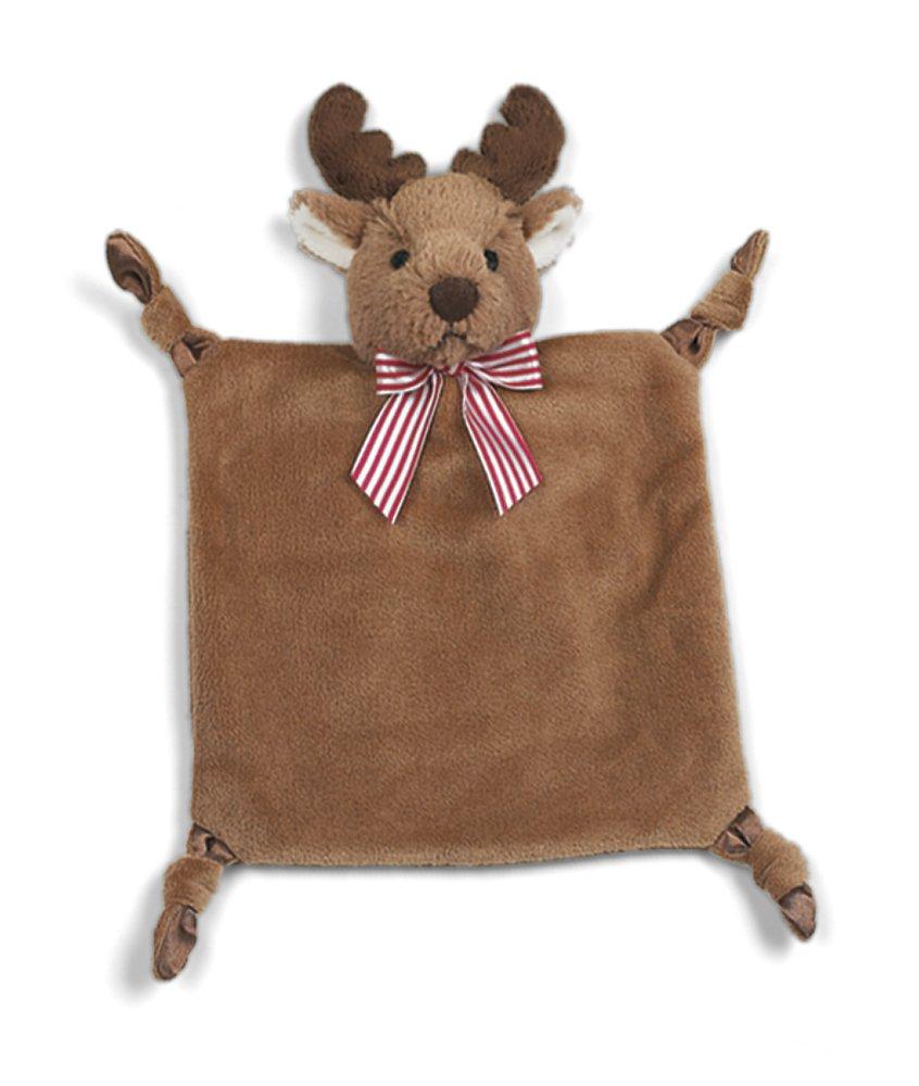Bearington Baby Wee Lil' Reindeer, Small Holiday Stuffed Animal Lovey Security Blanket, 8' x 7' 8 x 7 Bearington Collection 198022