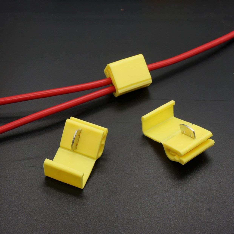 50PCS 805# MXECO Conector de Cable sin p/érdida Terminales de Cable de Empalme r/ápido Conector de Pala Hembra Kit de Conectores de Cable de Cable T-Tap