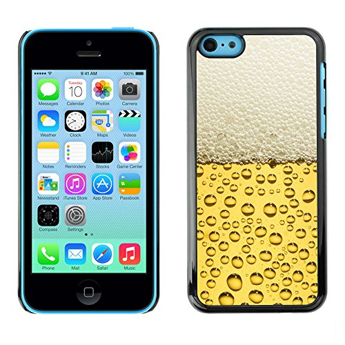 Hard PC Protective Case Smartphone Case Cover for iPhone 5C // Beer Bubbles Foam // CooleCell