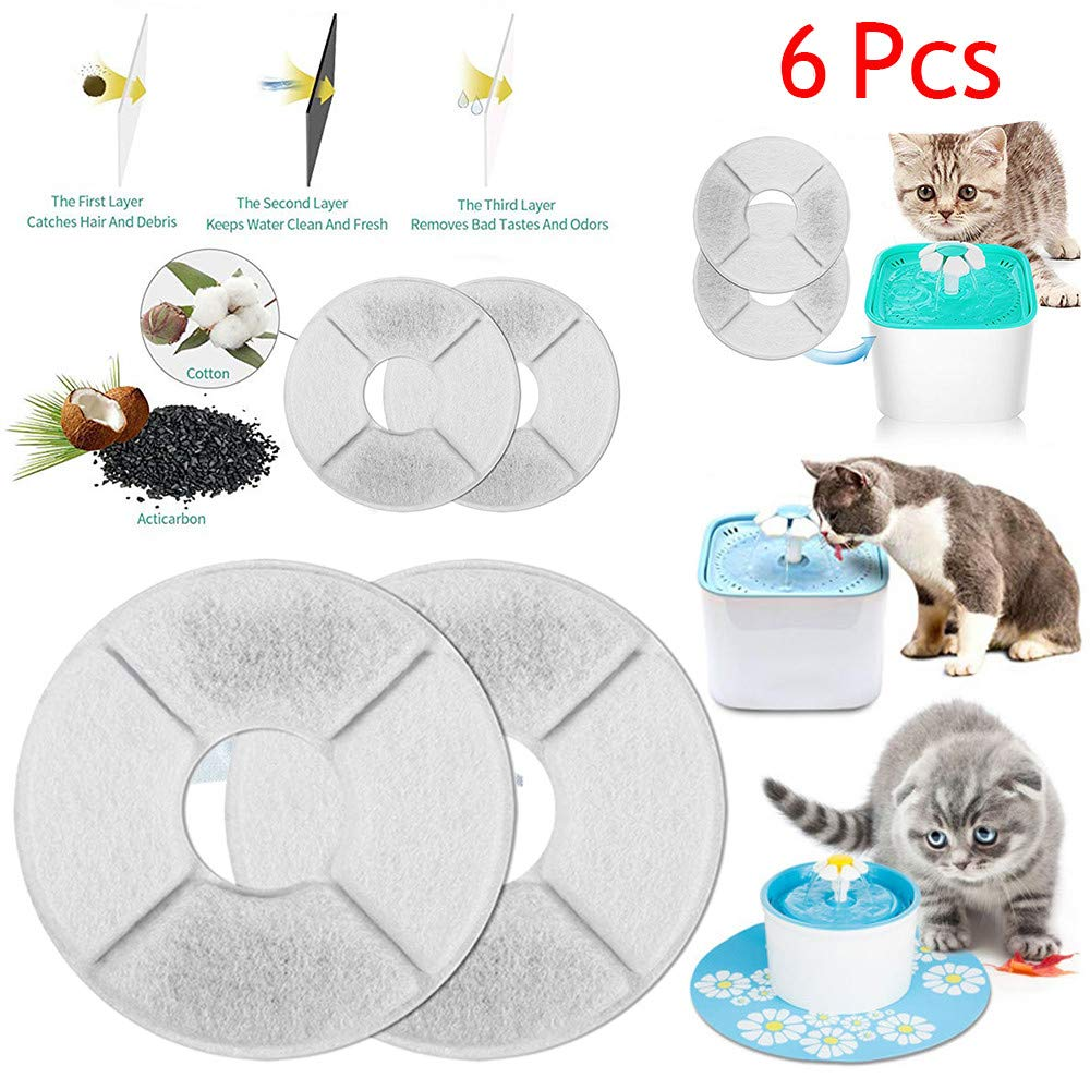 YUYOUG Pet Fountain Automatic Water Dispenser Premium Activated Carbon Filters Sets, Flower Style Fountain Filters For Automatic Cat Dog Kitten Water Drinking Fountain (1 Packs)