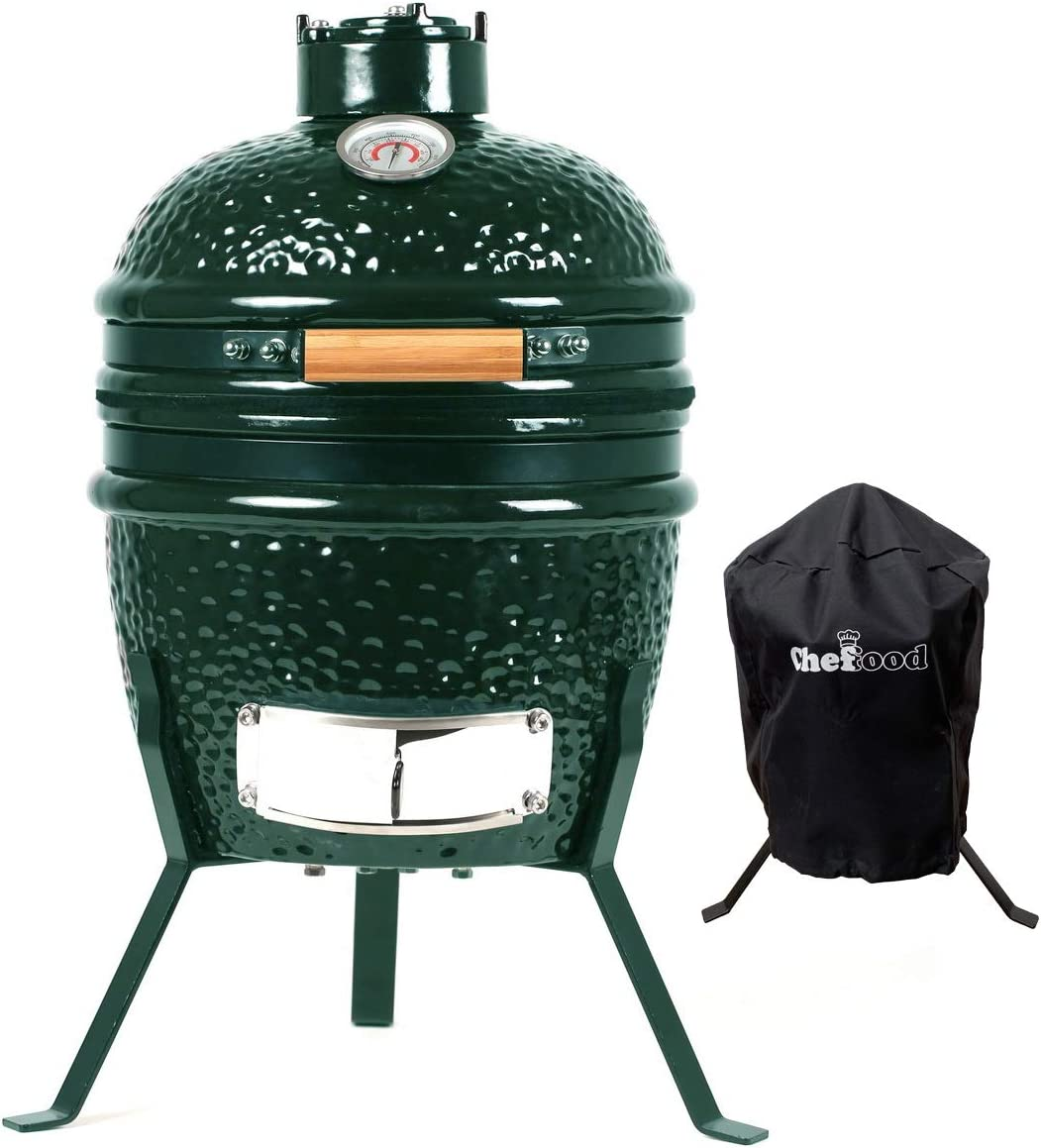 "Chefood 13"" Ceramic Kamado: A fuel-efficient Kamado grill for all season"