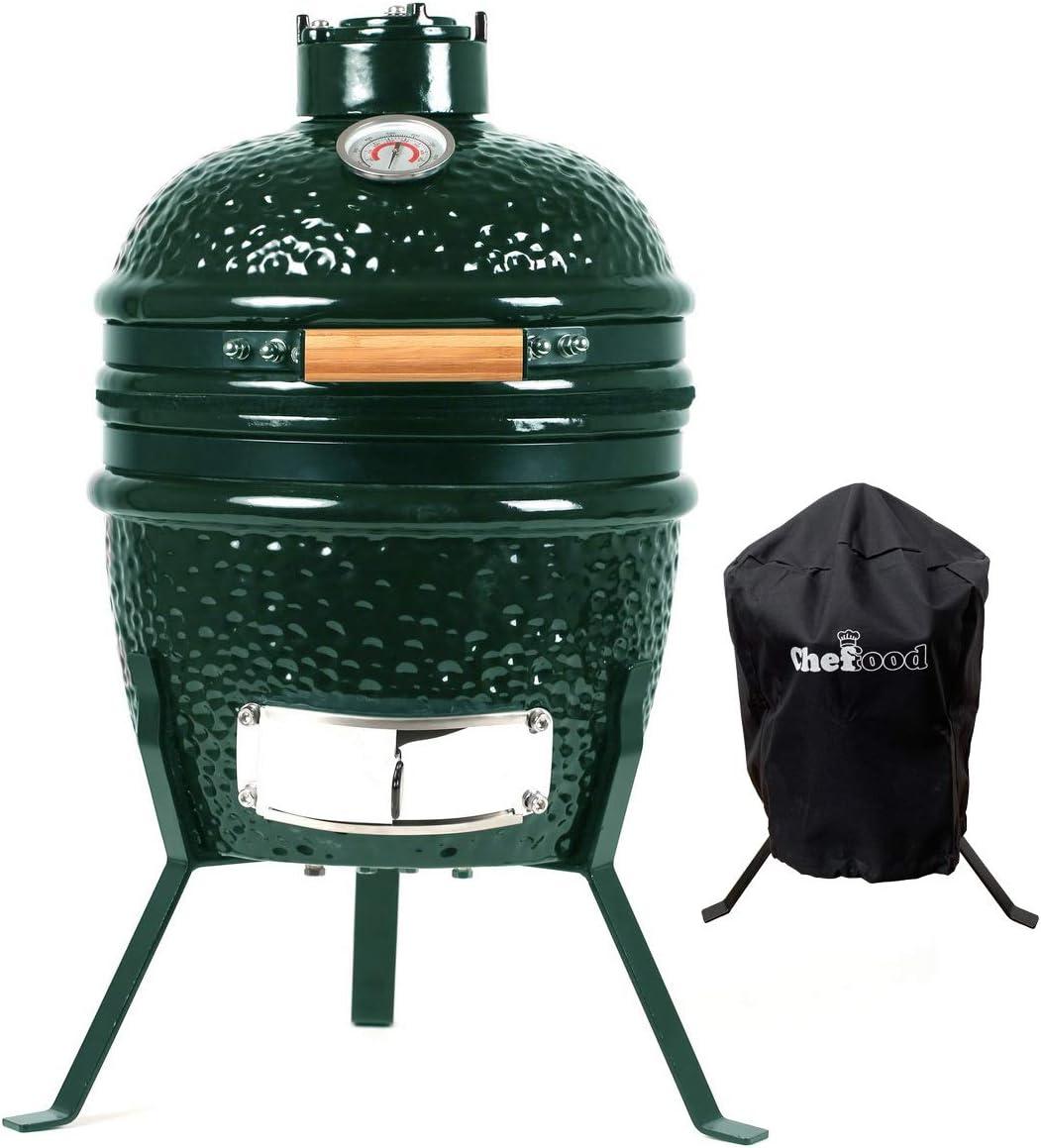 "Chefood13"" Ceramic Kamado:A fuel-efficient Kamado grill for all season"
