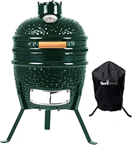 """Chefood 13"""" Ceramic Kamado Portable BBQ Charcoal Grill With Cover"""