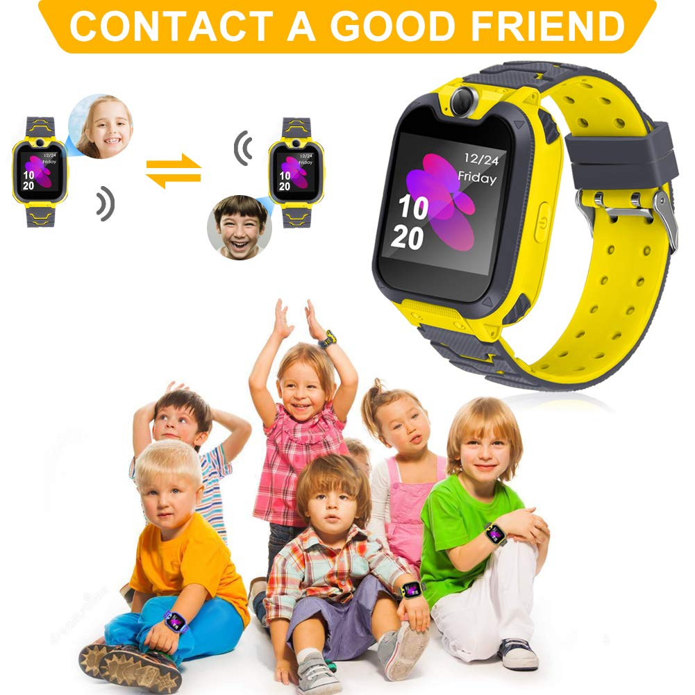 Smart Phone Watches For Kids Game Watch With Camera Touch Screen Digital Wrist Phone Watch Music Player For 3-12 Year Old Boys Girls Ipx5 Waterproof Electronic Educational Learning Toys (Yellow) by LJRYCQSSZSF (Image #5)