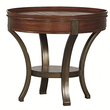Amazing Hammary Sunset Valley Round End Table In Rich Mahogany