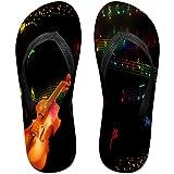 b923512ed Tailing Flip Flops Violin And Music Wallpaper Unisex Trendy Print Slippers  Beach Sandal