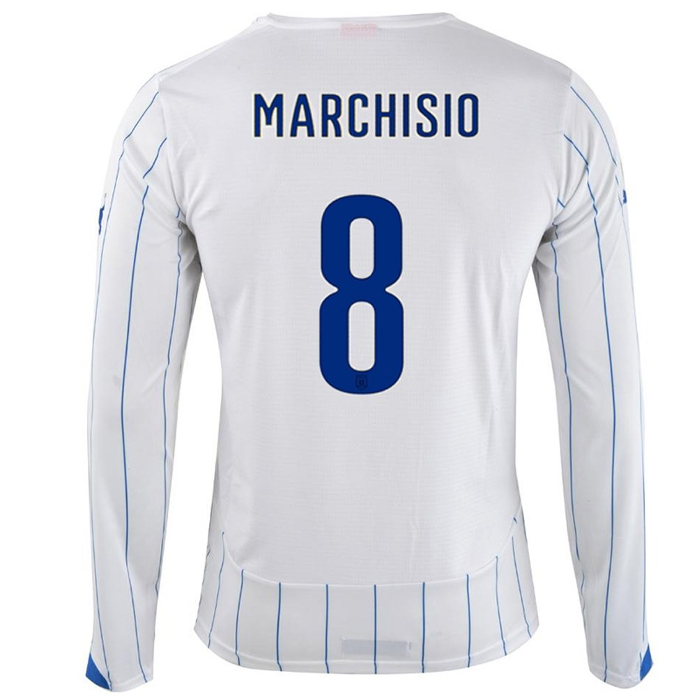 PUMA MARCHISIO #8 ITALY AWAY JERSEY WORLD CUP 2014 (Long Sleeve)/サッカーユニフォーム イタリア アウェイ用 長袖 ワールドカップ2014 背番号8 マルキジオ B00JZWS6KK Medium
